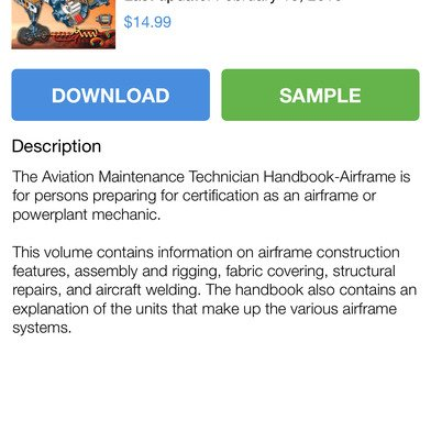 Airport Guide for Pilots app Book Detail