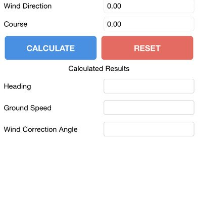 Airport Guide for Pilots app Calculators