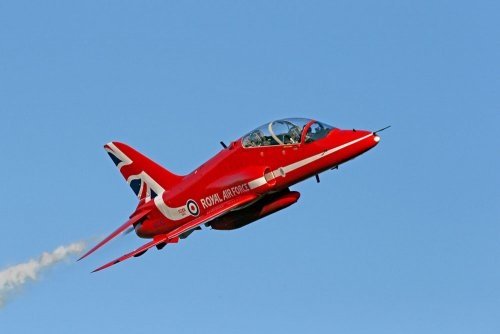 The Red Arrows RAF plane