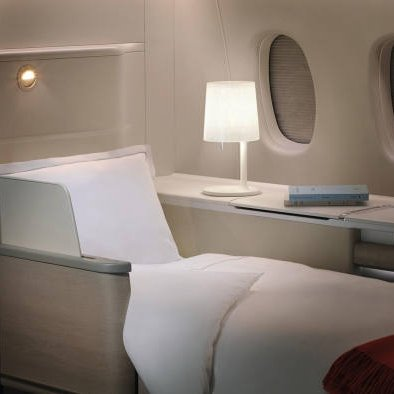 Bed in Air France's La Première class.