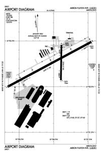 Allen Airport (AKC) Diagram