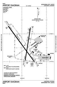 Valverda Strip Airport (AEX) Diagram