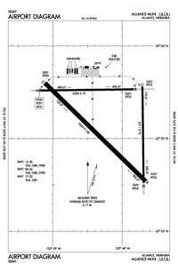 Alliance Municipal Airport (AIA) Diagram