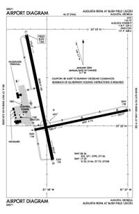Augusta Regional At Bush Field Airport (AGS) Diagram