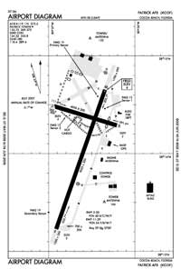 Patrick AFB Airport (COF) Diagram