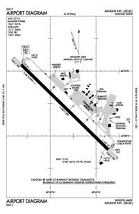 Mid Coast Hospital Heliport (BGR) Diagram