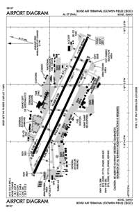 Boise Air Terminal/Gowen Field Airport (BOI) Diagram