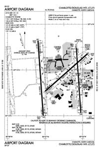 Charlotte/Douglas International Airport (CLT) Diagram