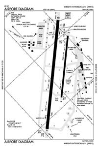 Wright-Patterson AFB Airport (FFO) Diagram