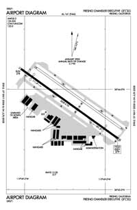 Delano Municipal Airport (FCH) Diagram