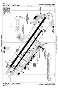 Fresno Yosemite International Airport (FAT) Diagram