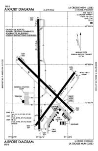 La Crosse Regional Airport (LSE) Diagram