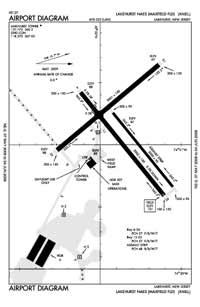 Lakehurst Maxfield Field Airport (NEL) Diagram