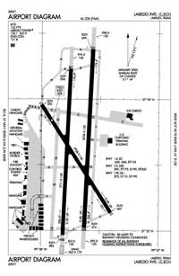 Laredo International Airport (LRD) Diagram