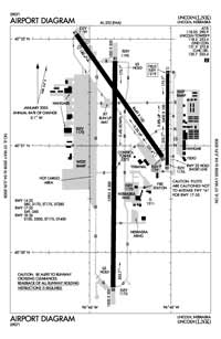 St Francis Medical Center Heliport (LNK) Diagram
