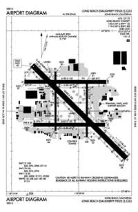 Long Beach /Daugherty Field/ Airport (LGB) Diagram