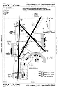 Dane County Regional-Truax Field Airport (MSN) Diagram