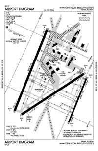 Miami-Opa Locka Executive Airport (OPF) Diagram