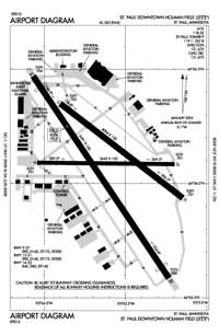 St Paul Downtown Holman Field Airport (STP) Diagram