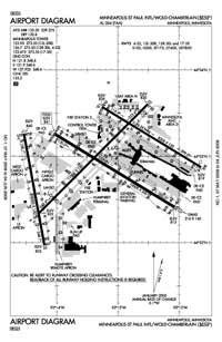 Minneapolis-St Paul International/Wold-Chamberlain Airport (MSP) Diagram