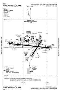 Montgomery Regional (Dannelly Field) Airport (MGM) Diagram