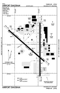 Tinker AFB Airport (TIK) Diagram