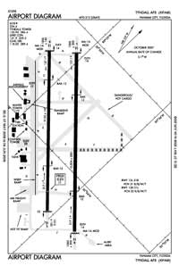 Tyndall AFB Airport (PAM) Diagram