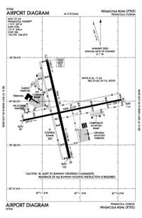Tyndall AFB Airport (PNS) Diagram