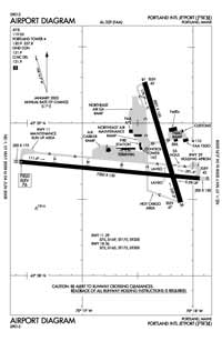 Portland International Jetport Airport (PWM) Diagram