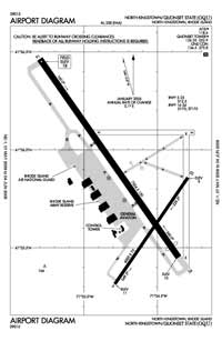 Quonset State Airport (KOQU) Diagram