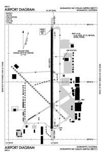 Mc Clellan Airfield Airport (MCC) Diagram