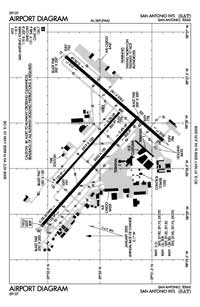 Rooke Field Airport (SAT) Diagram