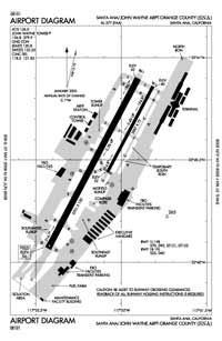 Whiteman Airport (SNA) Diagram