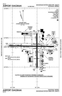 Ehrhardt Airport (SAV) Diagram