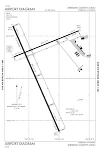 Laurel Municipal Airport (SHR) Diagram