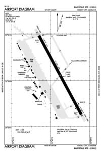 Barksdale AFB Airport (BAD) Diagram