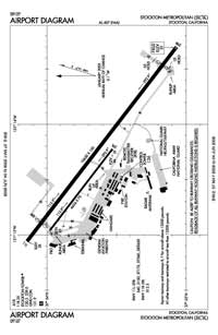 Stockton Metropolitan Airport (SCK) Diagram