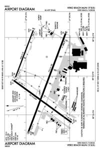 Vero Beach Municipal Airport (VRB) Diagram