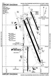 One Sixty Four Place Airport (SPS) Diagram