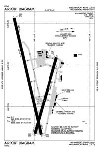 Williamsport Regional Airport (IPT) Diagram