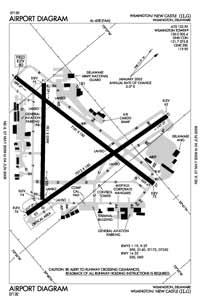 Cape Regional Medical Center Heliport (ILG) Diagram