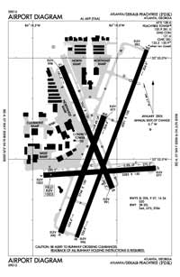 Gum Creek Airport (PDK) Diagram