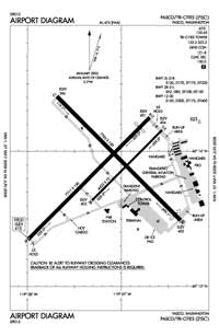 Lower Granite State Airport (PSC) Diagram