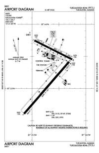 Posey Field Airport (TCL) Diagram