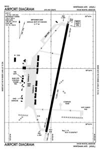 Whiteman AFB Airport (SZL) Diagram