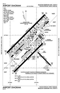 Air Harbor Airport (RDU) Diagram