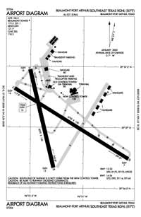 Gum Island Airport (BPT) Diagram