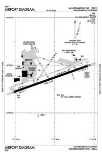 L A Co Sheriff Lakewood Heliport (SBD) Diagram