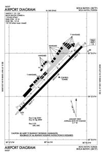Everglades Airpark Airport (BCT) Diagram