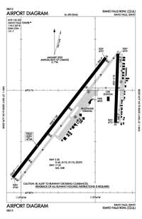 Nine Quarter Circle Ranch Airport (IDA) Diagram
